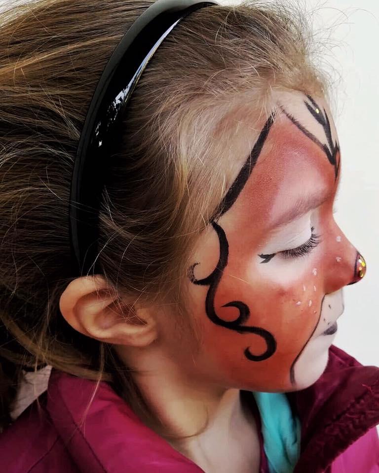ελάφι face painting
