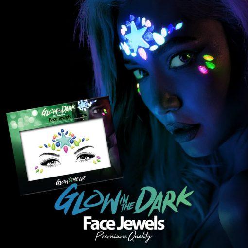 Κοσμήματα προσώπου glow in the dark