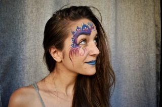 face painting παγώνι