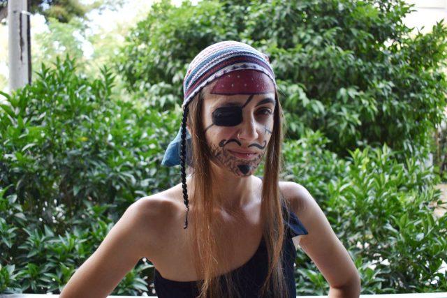 Πειρατής και πειρατίνα face painting